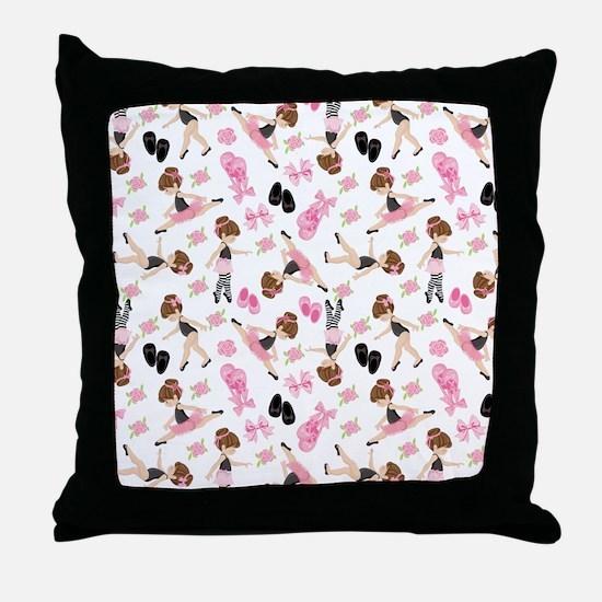 Ballerinas Throw Pillow