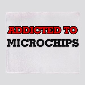 Addicted to Microchips Throw Blanket