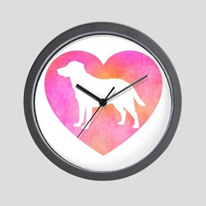 Lab Love Mom Wall Clock
