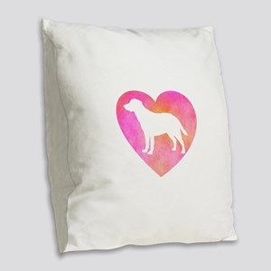 Lab Love Mom Burlap Throw Pillow