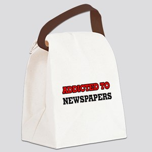 Addicted to Newspapers Canvas Lunch Bag