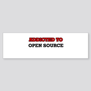 Addicted to Open Source Bumper Sticker
