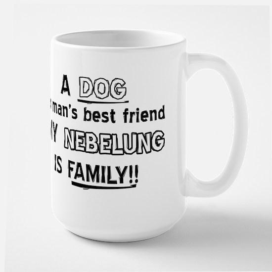 Nebelung Cat Is My Family Large Mug