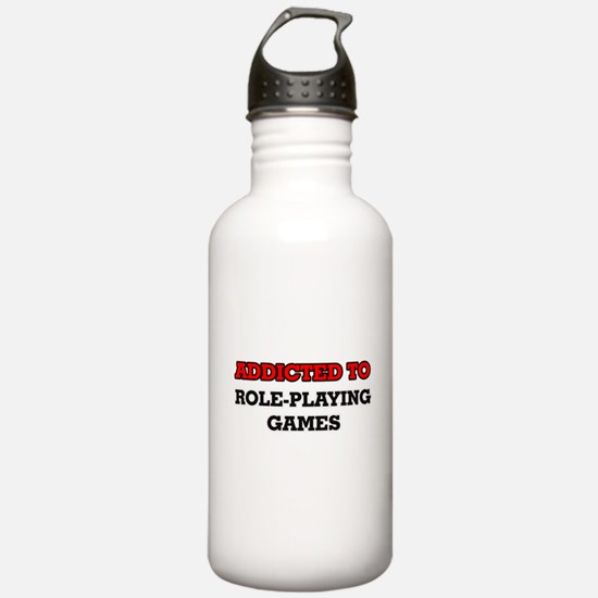 Addicted to Role-Playi Water Bottle