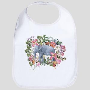 Elephant in jungle - watercolor artwork Bib