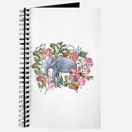 Elephant in jungle - watercolor artwork Journal