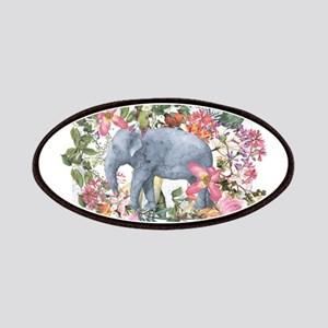 Elephant in jungle - watercolor artwork Patch