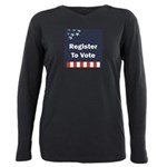 Register to Vote Plus Size Long Sleeve Tee