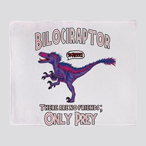 Bilociraptor - Speech Lable Throw Blanket