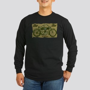 Thor Motorcycle Retro Logo Long Sleeve T-Shirt