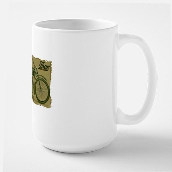 Thor Motorcycle Retro Logo Mugs