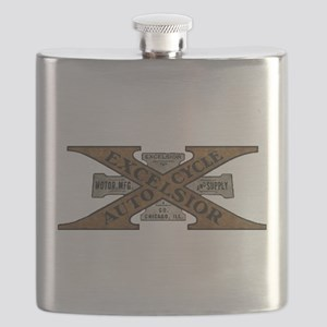 Excelsior Motorcycle Retro Logo Flask