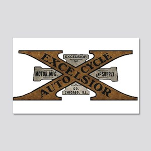 Excelsior Motorcycle Retro Logo Wall Decal