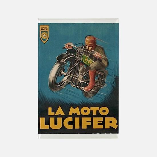 La Moto Lucifer Motorcycle Retro Logo Magnets