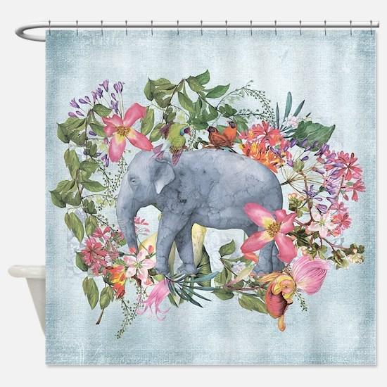 Unique Background color Shower Curtain