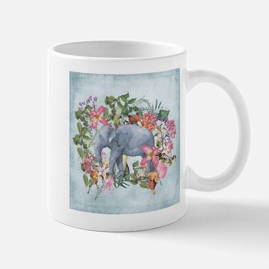 Elephant in jungle - watercolor artwork Mugs