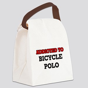 Addicted to Bicycle Polo Canvas Lunch Bag