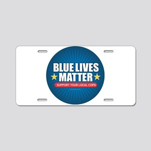 BLUE LIVES MATTER Aluminum License Plate