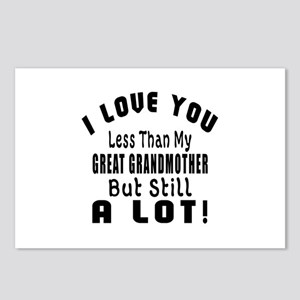 I Love You Less Than My G Postcards (Package of 8)