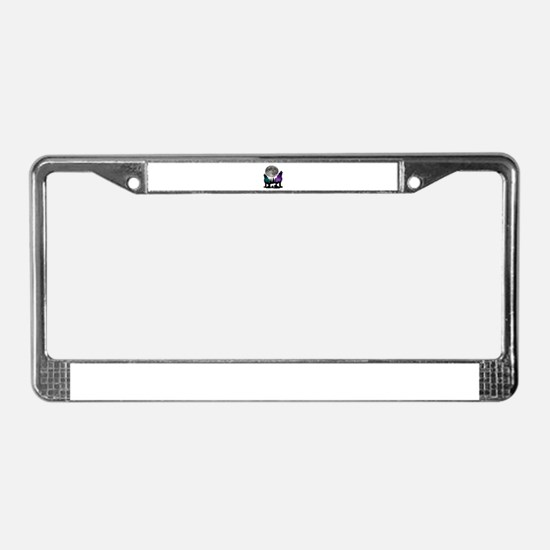 Unique Timber wolf License Plate Frame