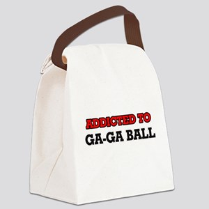 Addicted to Ga-Ga Ball Canvas Lunch Bag