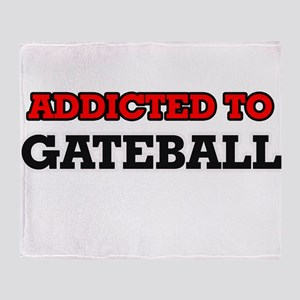 Addicted to Gateball Throw Blanket
