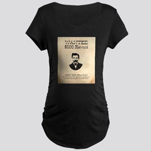 Doc Holliday Wanted Maternity Dark T-Shirt