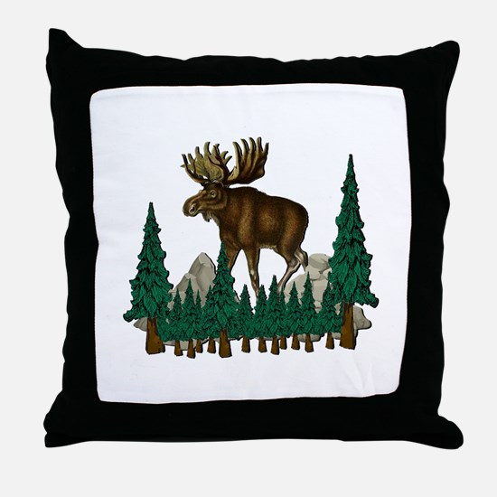 Funny Bull Throw Pillow