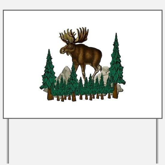 Unique Bull moose Yard Sign