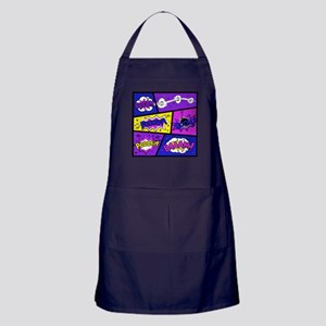 Colorful Comic Book Panels Apron (dark)