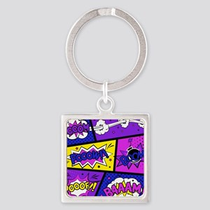 Colorful Comic Book Panels Keychains
