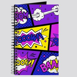 Colorful Comic Book Panels Journal