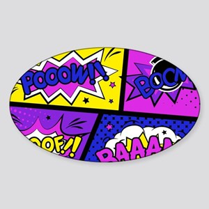 Colorful Comic Book Panels Sticker