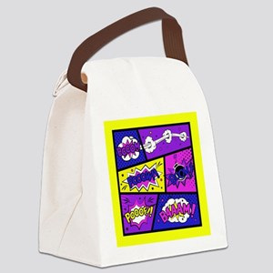 Colorful Comic Book Panels Canvas Lunch Bag