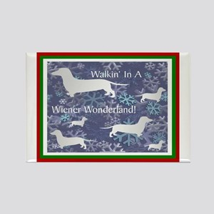 Dachshund Holiday Rectangle Magnet