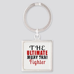 The Ultimate Muay Thai Martial Art Square Keychain