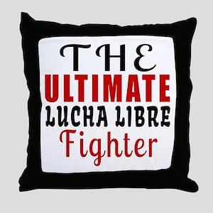 The Ultimate Lucha Libre Martial Arts Throw Pillow