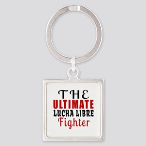 The Ultimate Lucha Libre Martial A Square Keychain