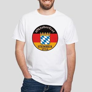Steinbock Oktoberfest White T-Shirt