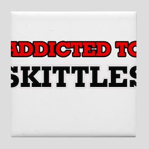 Addicted to Skittles Tile Coaster