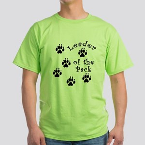 DOGGY Leader of the Pack Green T-Shirt