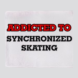 Addicted to Synchronized Skating Throw Blanket