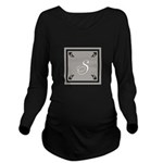 Personalize Monogram Long Sleeve Maternity T-Shirt