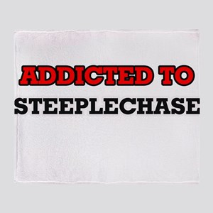 Addicted to The Steeplechase Throw Blanket