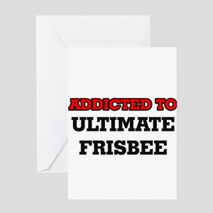 Addicted to Ultimate Frisbee Greeting Cards