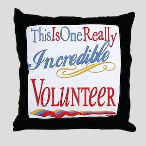 Incredible Volunteer Throw Pillow