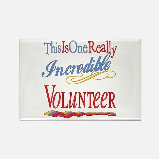 Incredible Volunteer Rectangle Magnet