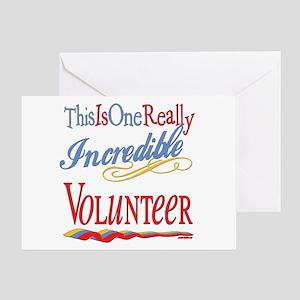 Incredible Volunteer Greeting Card