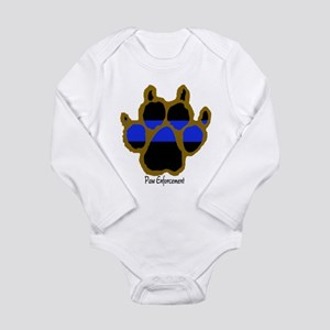 Brown Thin Blue Line Paw Enforcement Body Suit