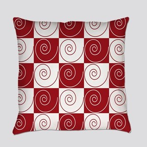 Red and White Mouse Tails Everyday Pillow